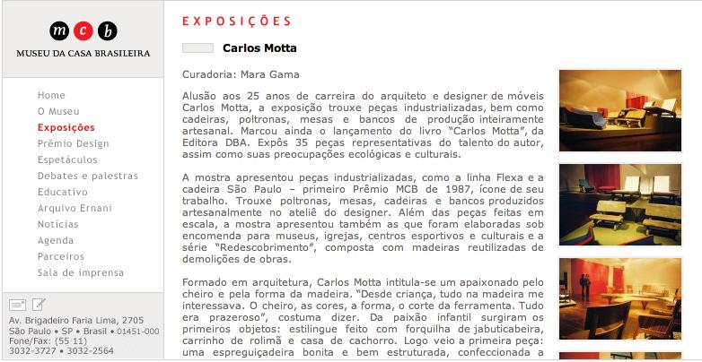 Carlos motta for Carlos motta designer
