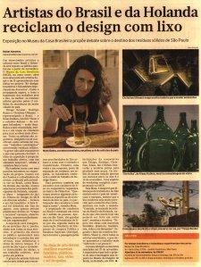 reportagem do jornal Brasil Econômico sobre a mostra do Museu da Casa Brasileira